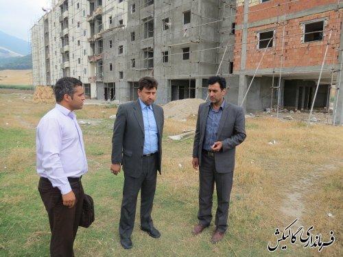 بازدید فرماندار گالیکش از پروژه مسکن مهر