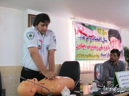 برگزاری دوره های امداد ونجات و آواربرداری روستایی ویژه دهیاران گالیکش