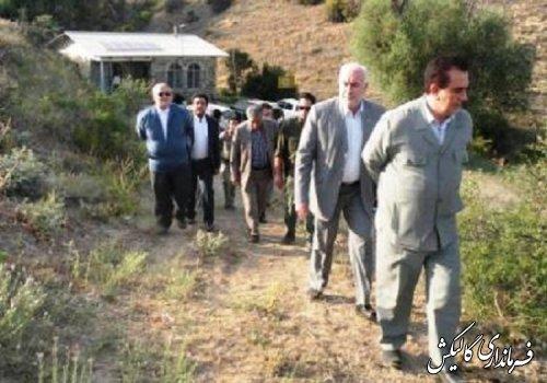بازدید استاندار گلستان از مناطق خسارت دیده از آتش سوزی پارک ملی گلستان