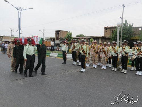 پیکر پاک شهید بر دستان قدر شناس مردم گالیکش تشییع شد