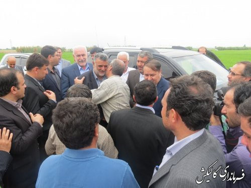 لحظه ورود وزیر جهاد به گالیکش
