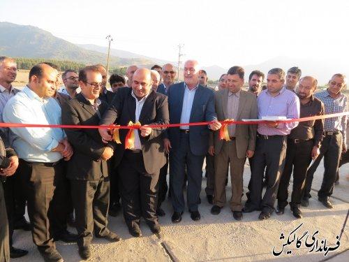 افتتاح پروژه های عمرانی گالیکش با حضور مرگدری معاون استاندار