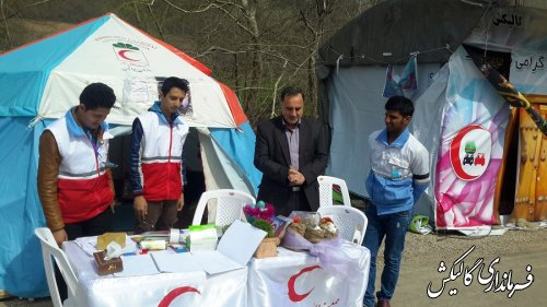 بازدید قاضوی بخشدار لوه از کمپ جوانان هلال احمر تنگراه