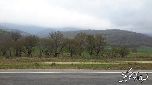 طبیت زیبای حاشیه جاده ای شهرستان گالیکش
