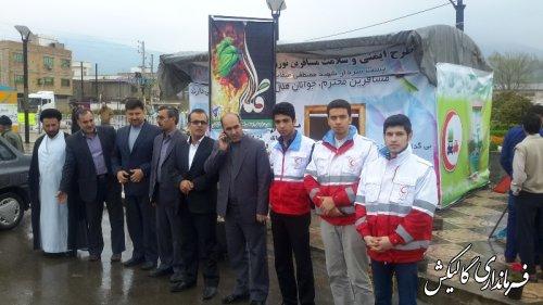 بازدید فرماندار از کمپ های نوروزی هلال احمر شهرستان
