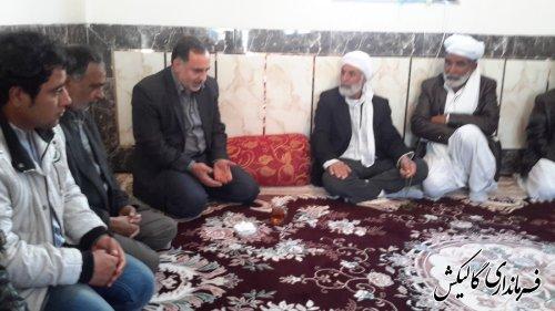 بازدید قاضوی بخشدار لوه از روستای دار آباد
