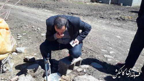 بازدید قاضوی بخشدار لوه از روستای منجلو