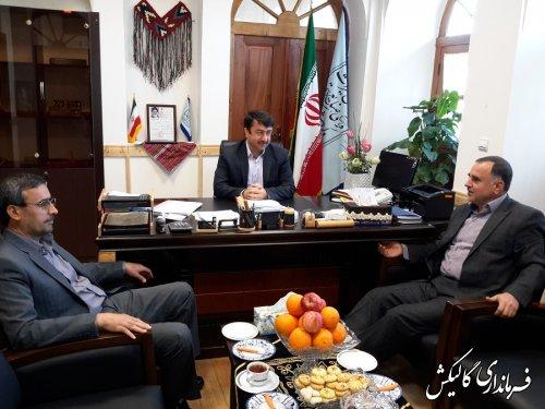 دیدار بخشداران گالیکش با مدیر کل میراث فرهنگی،صنایع دستی وگردشگری گلستان