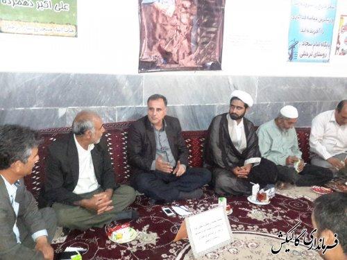 دیدار قاضوی بخشدار لوه با روحانیون مساجد روستای ترجنلی