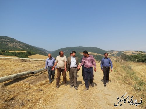 بازدید فرماندار از پروژه گازرسانی به روستاهای دهستان نیلکوه