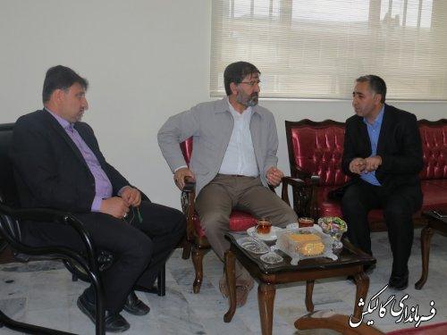 دیدار سرمایه گذار خارجی اهل ترکیه با فرماندار گالیکش