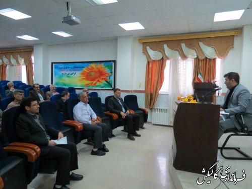 چهارمین و پنجمین دوره آموزش نمایندگان فرماندار شعب اخذ رای شهرستان گالیکش برگزار شد