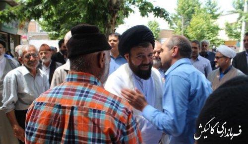 مراسم استقبال از امامجمعه جدید شهرستان گالیکش برگزار شد