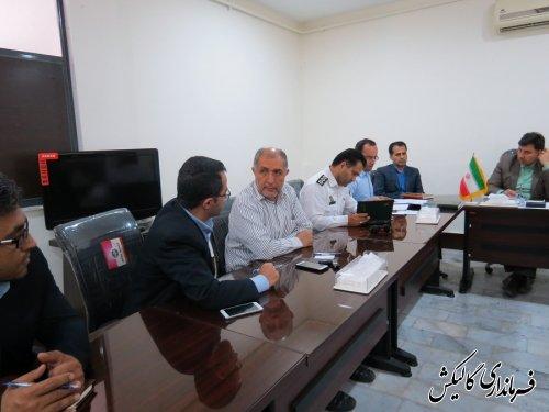 سومین جلسه شورای ترافیک شهرستان گالیکش برگزار شد