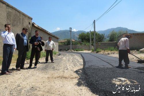 در دولت تدبیر وامید معابر نیمی از روستاهای بخش لوه گالیکش آسفالت شد