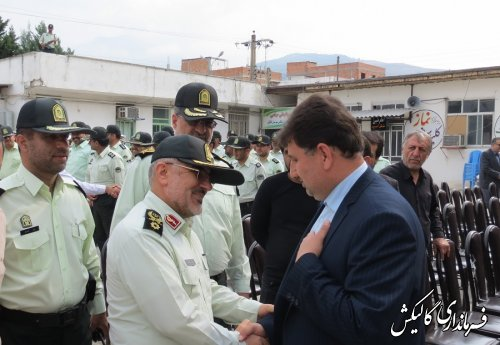 ساختمان اداری ستاد فرماندهی انتظامی شهرستان گالیکش افتتاح شد