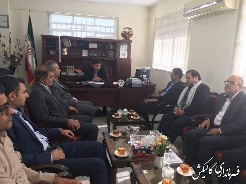 دیدار اعضای شورای شهر و شهردار جدید گالیکش با فرماندار این شهرستان