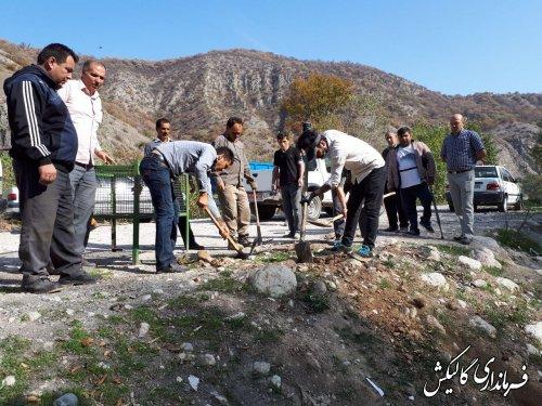 نصب ۱۲ عدد سبد زباله در حاشیه جاده پارک ملی گلستان