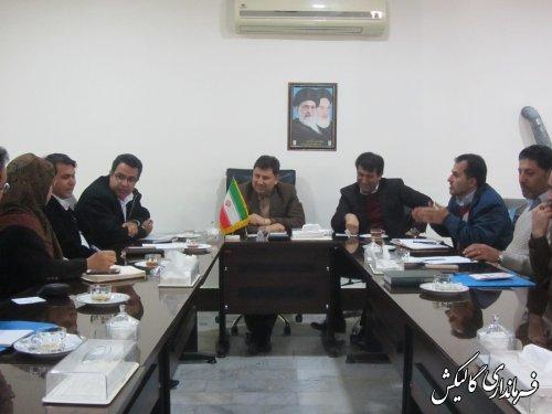 جلسه کمیته برنامهریزی فرعی-گردشگری شهرستان گالیکش برگزار شد