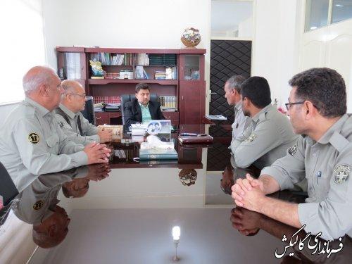 دیدار رئیس و کارکنان پارک ملی گلستان با فرماندار گالیکش