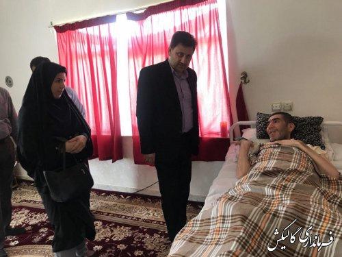 دیدار و دلجویی فرماندار و رئیس بهزیستی گالیکش از معلول ضایعه نخاعی