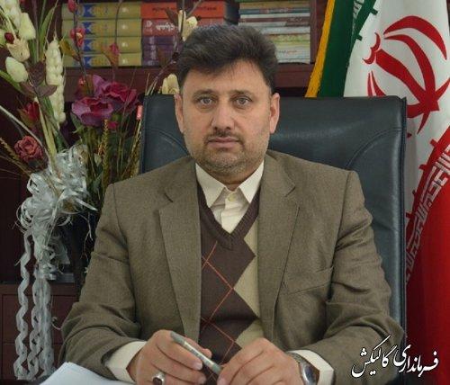 پیام تبریک فرماندار گالیکش بمناسبت روز خبرنگار