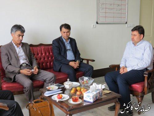 دیدار مدیرکل منابع طبیعی و آبخیزداری گلستان با فرماندار گالیکش