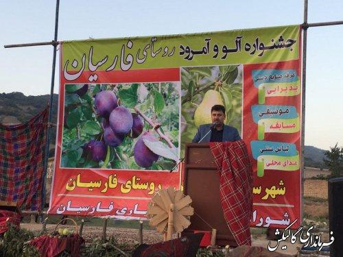 سومین «جشنواره آلو و امرود» روستای فارسیان شهرستان گالیکش برگزار شد