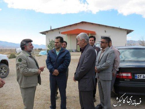 فرماندار گالیکش و مدیرکل محیط زیست گلستان از محل وقوع شهادت محیطبان بازدید نمودند