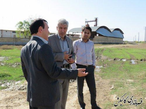 بازدید فرماندار گالیکش از محل احداث شهرک صنفی پوشاک در ینقاق