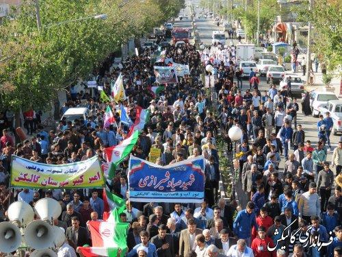 راهپیمایی 13 آبان شهرستان گالیکش برگزار شد