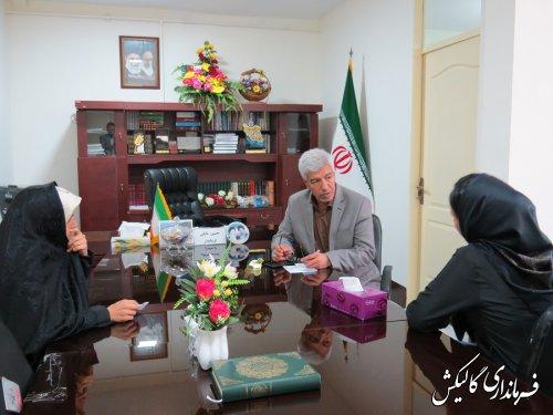 ملاقات مردمی فرماندار شهرستان گالیکش برگزار شد