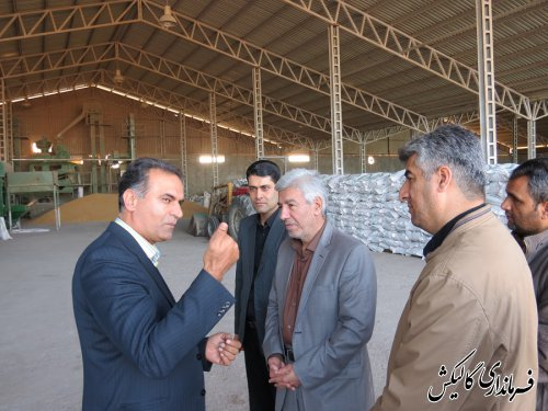 بازدید فرماندار گالیکش از شرکت تعاونی مینوبذر گلستان