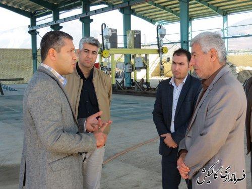 بازدید فرماندار گالیکش از پروژه احداث کارخانه ساخت و تولید سازههای فلزی