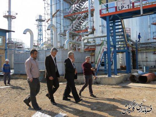 بازدید فرماندار گالیکش از دو واحد صنعتی شهرستان