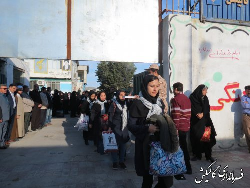 اعزام کاروان راهیان نور دانش آموزی شهرستان گالیکش