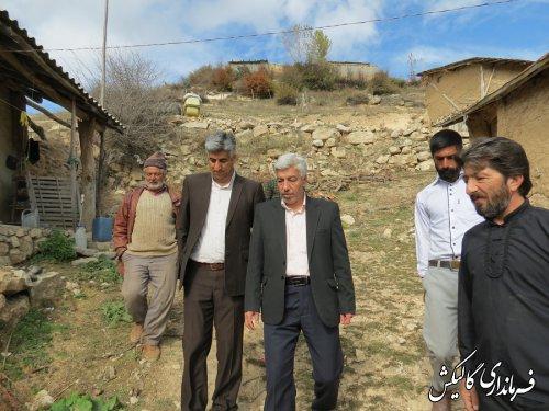 بازدید فرماندار گالیکش از روستای محروم سیجان