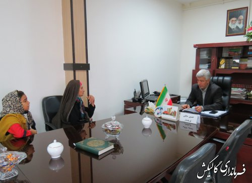 ملاقات عمومی فرماندار گالیکش با شهروندان شهرستان انجام شد