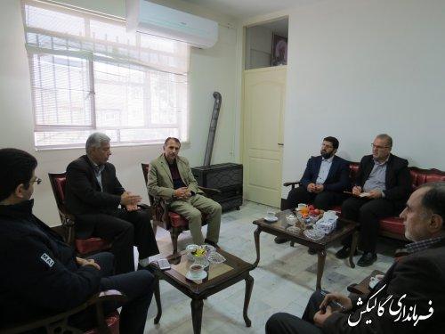 دیدار و جلسه معاون غذا و داروی دانشگاه علوم پزشکی گلستان با فرماندار گالیکش