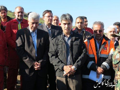 مانور استانی اطفاء حریق در شهرستان گالیکش برگزار شد