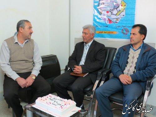 فرماندار گالیکش با رئیس و پرسنل ثبت احوال شهرستان دیدار کرد