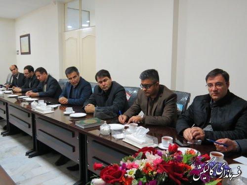 جلسه هماهنگی سفر رئیس جمهور به استان گلستان، در گالیکش برگزار شد