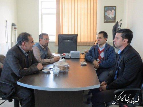 جلسه بررسی راهکارهای اجرایی خدمت برتر در روستاهای گالیکش برگزار شد