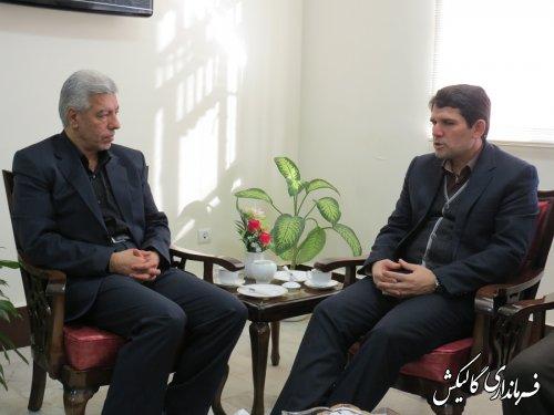 دیدار مدیرکل بهزیستی گلستان با فرماندار گالیکش