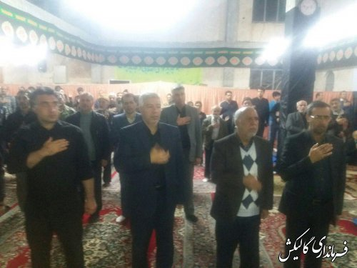 مراسم سوگواری شهادت حضرت فاطمه زهرا(س) در مسجد صاحبالزمان(عج) گالیکش برگزار شد