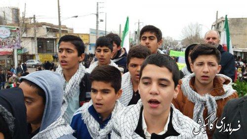 راهپیمایی ۲۲بهمن باشکوهتر از سالهای گذشته در گالیکش برگزار شد