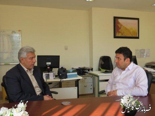 دیدار فرماندار گالیکش با مدیرکل روابط عمومی استانداری گلستان؛
