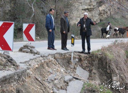 فرماندار گالیکش از محور کوهستانی دهستان نیلکوه بازدید کرد