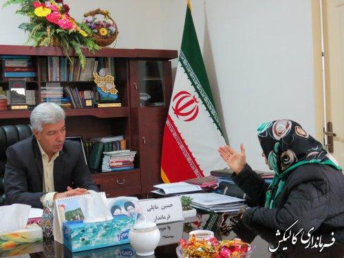 ملاقات عمومی فرماندار گالیکش با شهروندان برگزار شد