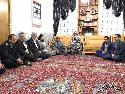 دیدار فرماندار و مسئولین گالیکش با مادران معظم دو شهید والامقام شهرستان